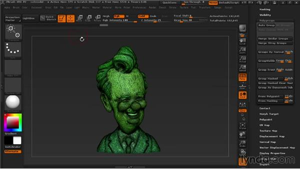 Cutting models into smaller pieces: 3D Printing with ZBrush