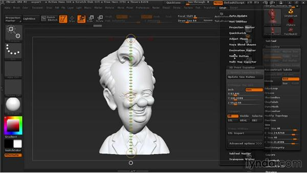 Using the 3D Print Exporter: 3D Printing with ZBrush