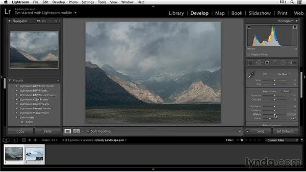 Avoiding highlight and shadow clipping: Color Correction in Lightroom