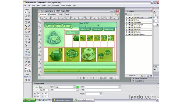 Creating a layout in Fireworks: Studio 8 Web Workflow