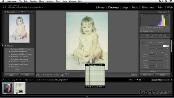Correcting a faded image: Color Correction in Lightroom