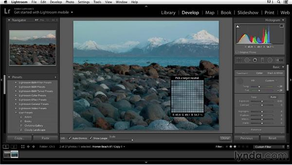 Making creative adjustments: Color Correction in Lightroom