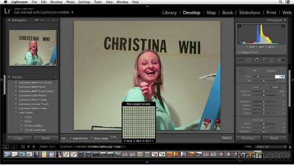 Solution: Identifying and correcting a color cast: Color Correction in Lightroom