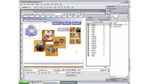 Modifying a layout in Dreamweaver: Studio 8 Web Workflow