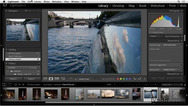 Backing up the catalog: Lightroom 5: 01 Organizing Your Photos