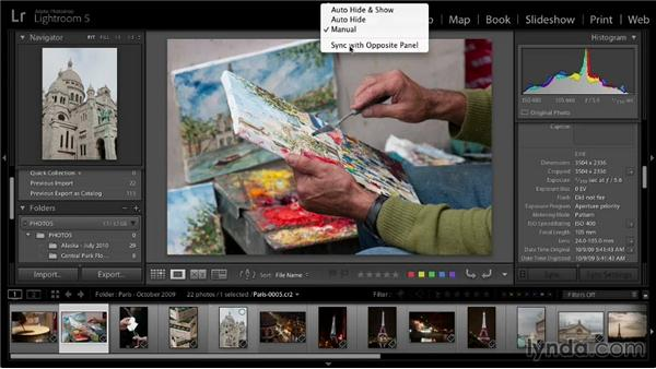Working with the Lightroom interface: Lightroom 5: 01 Organizing Your Photos