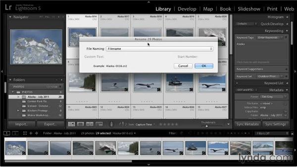 Renaming photos: Lightroom 5: 01 Organizing Your Photos