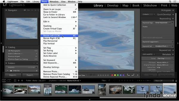 Rotating photos in Lightroom: Lightroom 5: 01 Organizing Your Photos