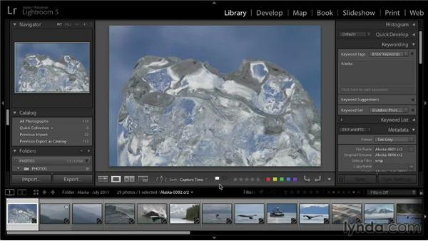 Picking and rejecting photos with flags: Lightroom 5: 01 Organizing Your Photos