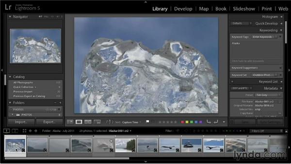 Assigning star ratings to photos: Lightroom 5: 01 Organizing Your Photos