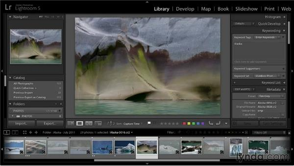 Auto-advancing during image review: Lightroom 5: 01 Organizing Your Photos