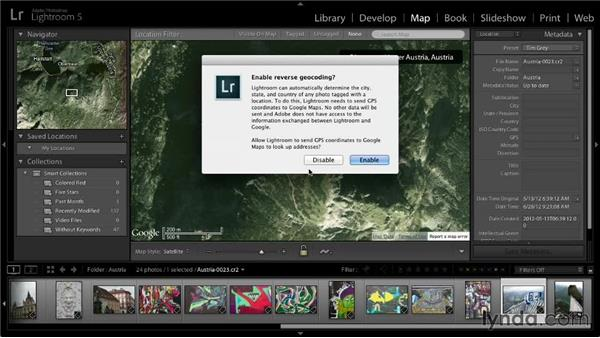 Adding photos to the map: Lightroom 5: 01 Organizing Your Photos