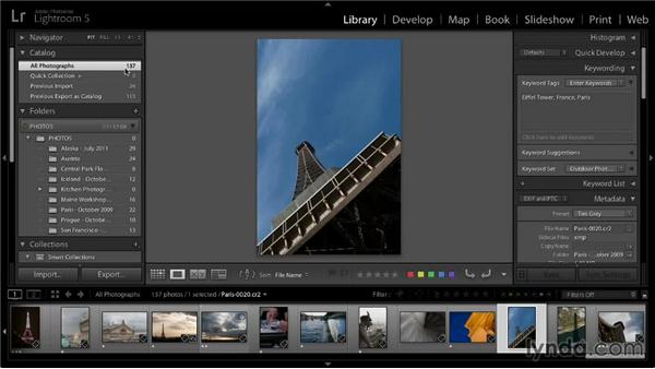 Narrowing the field: Lightroom 5: 01 Organizing Your Photos