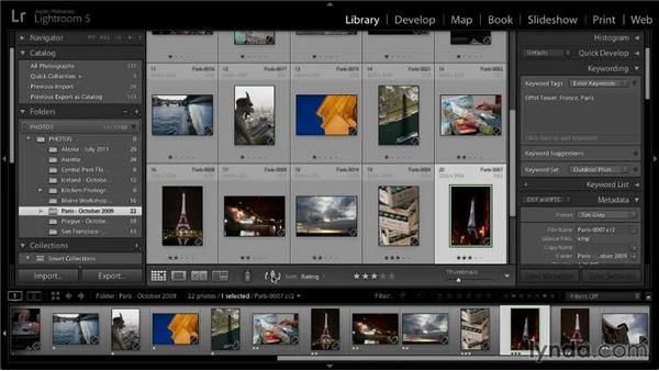 Setting image sort order: Lightroom 5: 01 Organizing Your Photos