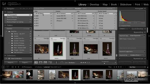 Advanced image filtering with the Library filter: Lightroom 5: 01 Organizing Your Photos