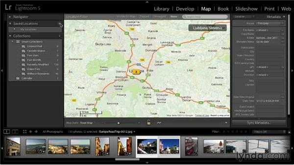 Finding images on the map: Lightroom 5: 01 Organizing Your Photos