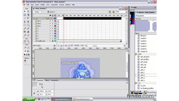 Pulsing text animation: Studio 8 Web Workflow
