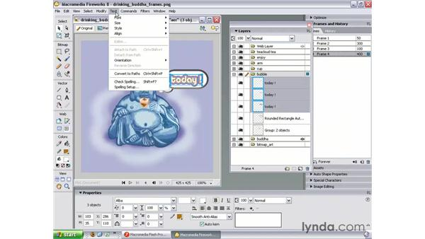 Bubble pop-up animation: Studio 8 Web Workflow