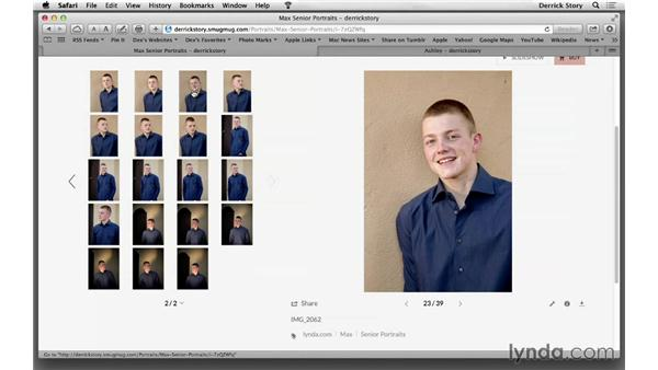 Working with a client in person to review images: Photographing High School Senior Portraits