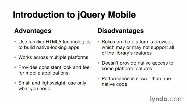 Intro to jQuery Mobile: jQuery Mobile Essential Training