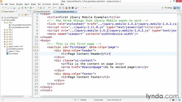 Building your first jQuery Mobile app: jQuery Mobile Essential Training