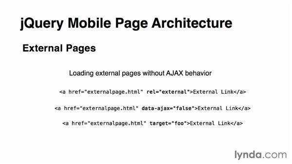 Understanding jQuery Mobile page architecture: jQuery Mobile Essential Training