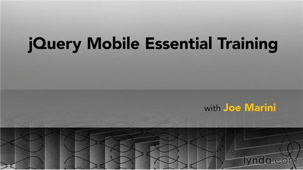 Goodbye: jQuery Mobile Essential Training