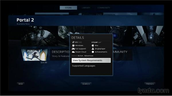 Understanding game and application detail pages: SteamOS for Developers First Look