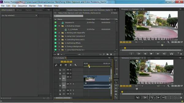 Set up a color correction workspace: Fixing Video Exposure Problems in Premiere Pro CC