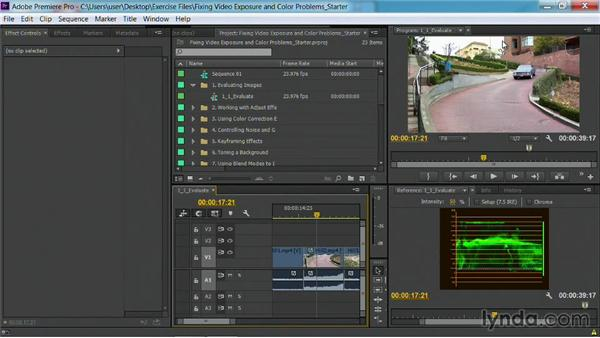 Using the Waveform monitor: Fixing Video Exposure Problems in Premiere Pro CC