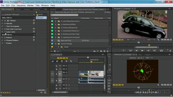 Toggling an effect: Fixing Video Exposure Problems in Premiere Pro CC