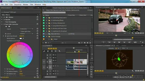 Using a split screen: Fixing Video Exposure Problems in Premiere Pro CC