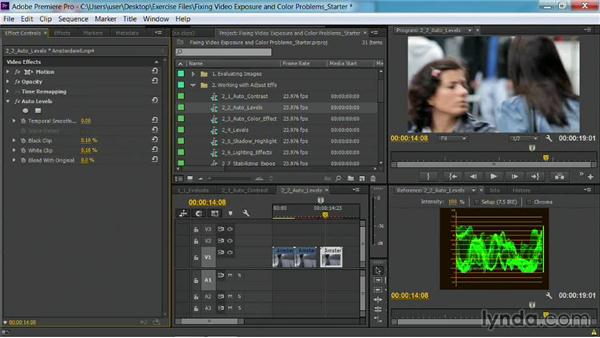 The Auto Levels effect: Fixing Video Exposure Problems in Premiere Pro CC