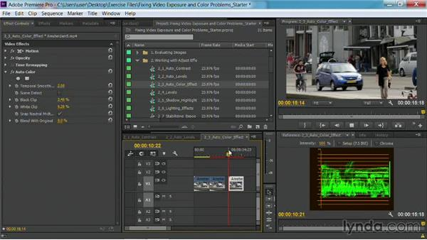 The Auto Color effect: Fixing Video Exposure Problems in Premiere Pro CC