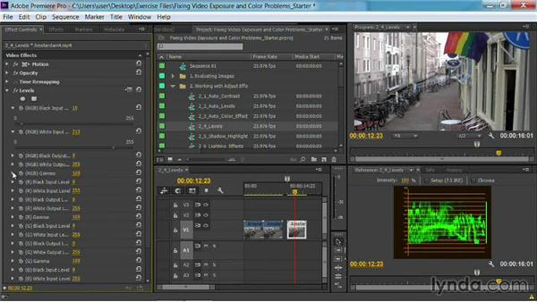 The Levels effect: Fixing Video Exposure Problems in Premiere Pro CC