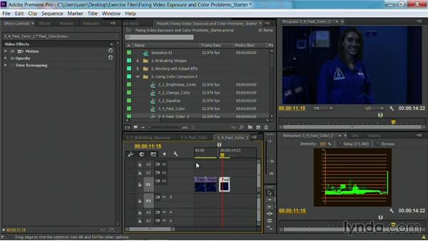 The Fast Color Corrector effect: Fixing Video Exposure Problems in Premiere Pro CC