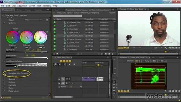 The Three-Way Color Corrector effect: Fixing Video Exposure Problems in Premiere Pro CC