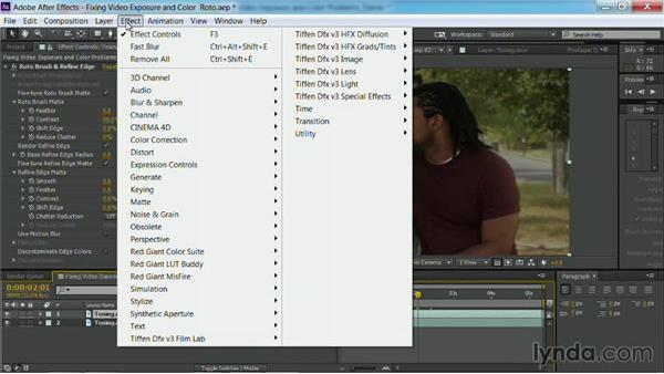 Darkening the background: Fixing Video Exposure Problems in Premiere Pro CC