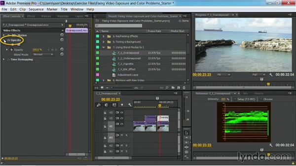Fixing overexposed footage: Fixing Video Exposure Problems in Premiere Pro CC