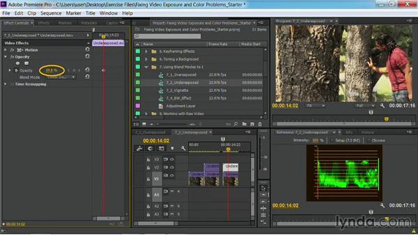 Fixing underexposed footage: Fixing Video Exposure Problems in Premiere Pro CC