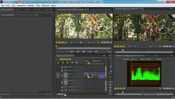 Adjusting an R3D file: Fixing Video Exposure Problems in Premiere Pro CC