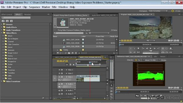 Adjusting with a RED EPIC HDR R3D file: Fixing Video Exposure Problems in Premiere Pro CC