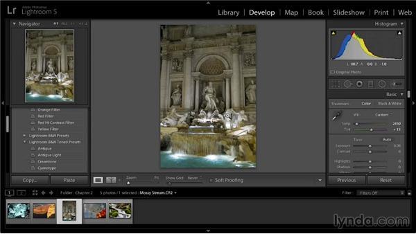 White balance adjustment: Lightroom 5: 02 Optimizing Your Photos