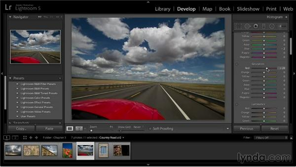 Advanced color adjustments: Lightroom 5: 02 Optimizing Your Photos