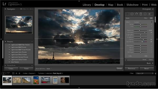 Graduated adjustments: Lightroom 5: 02 Optimizing Your Photos