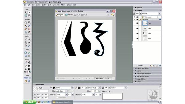 Drawing with the Pen tools: Fireworks 8 Essential Training