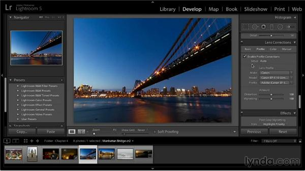 Lens correction adjustments: Lightroom 5: 02 Optimizing Your Photos