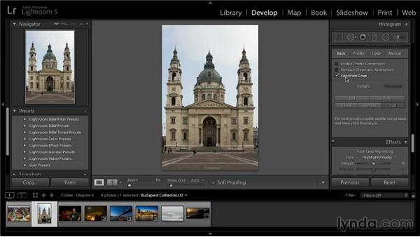 Correcting perspective: Lightroom 5: 02 Optimizing Your Photos
