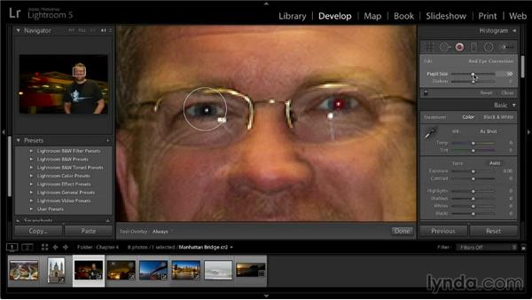 Removing red-eye: Lightroom 5: 02 Optimizing Your Photos