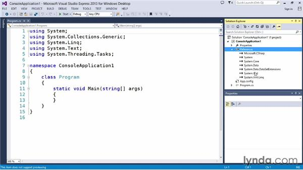 Introducing Visual Studio: Up and Running with C#